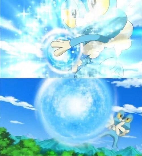 Pokémon,hadouken,froakie