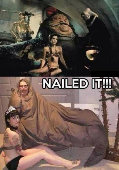 Jabba the Hut cosplay star wars FAIL Princess Leia - 7754986752