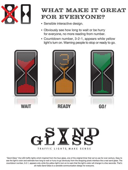 sand glass traffic lights hourglass - 7755017728