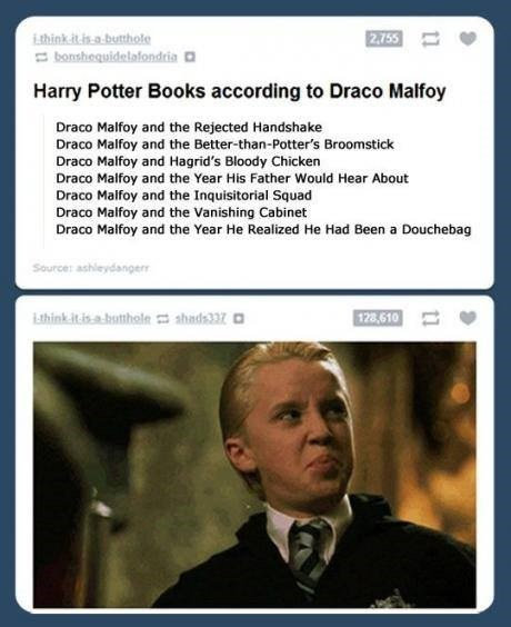Harry Potter draco malfoy tom felton