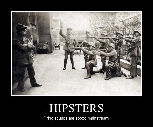 wtf,firing squad,hipsters
