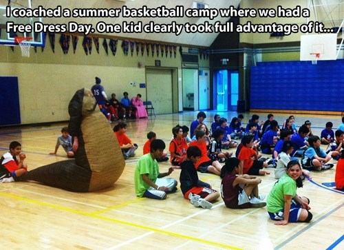 basketball camp costume free dress day poorly dressed g rated - 7755250432