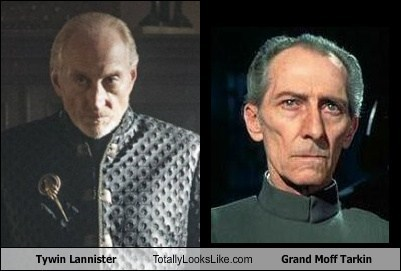 tywin lannister,star wars,grand moff tarkin,Game of Thrones,totally looks like,peter cushing