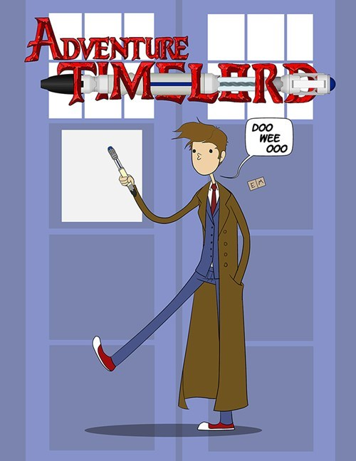 crossover Fan Art doctor who adventure time - 7755529728