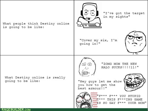 destiny,online gaming,Rage Comics