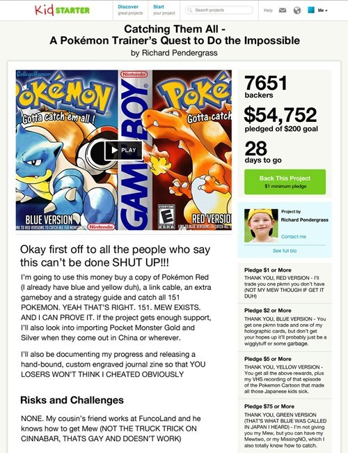 If Kickstarter Existed When Pokemon First Came Out