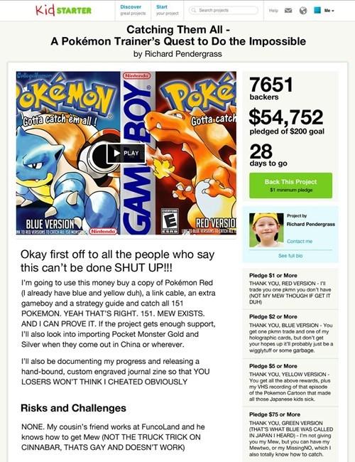 kickstarter Pokémon college humor - 7755606272