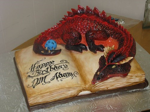 cake dragon nerdgasm funny dungeons and dragons g rated win - 7755660032