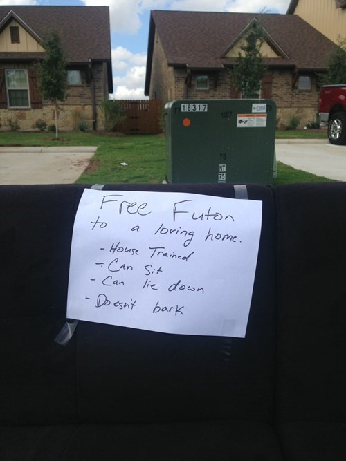 sign couch free stuff funny