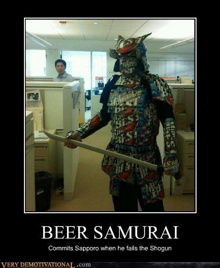 beer,samurai,sword,funny,asahi