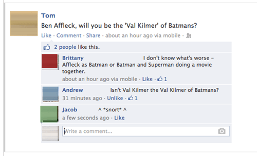 ben affleck ben affleck is batman val kilmer batman