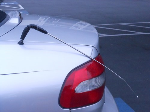 antenna cars funny there I fixed it Electrical tape - 7756151040