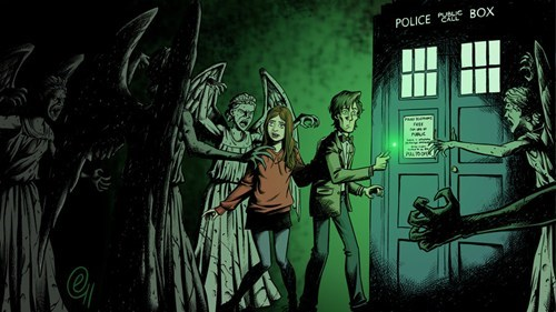 weeping angels Fan Art 11th Doctor doctor who - 7756615936