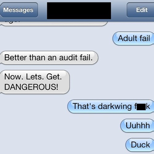 darkwing duck autocorrect text funny AutocoWrecks - 7756723712