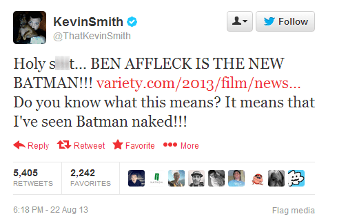 ben affleck,ben affleck is batman,kevin smith,batman,ben affleck as batman,batfleck,superbatman,failbook