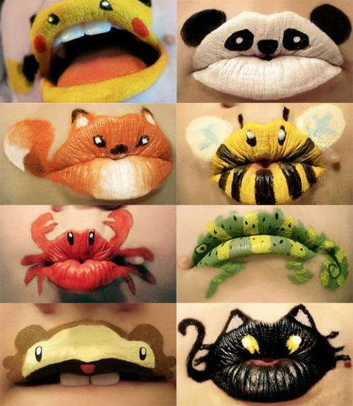 Pokémon lipstick Fan Art cute lips animals - 7756783104