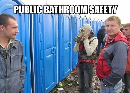 gas mask,bathroom,safety