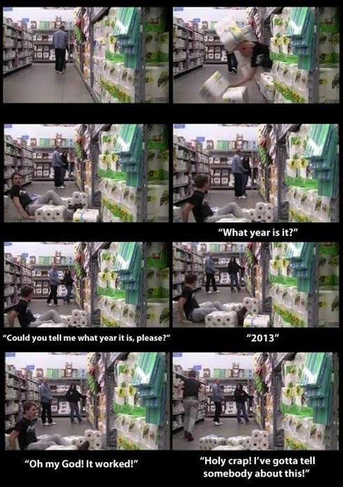 store pranks,time machine,time travel,g rated,win