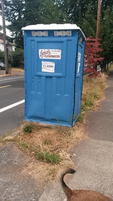 outhouse tardis portajohn doctor who turdis monday thru friday g rated - 7756846848