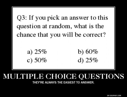 multiple choice,percentage,funny
