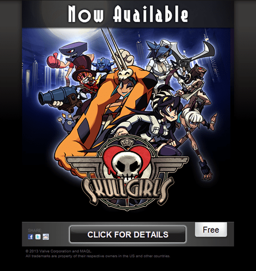steam,skullgirls