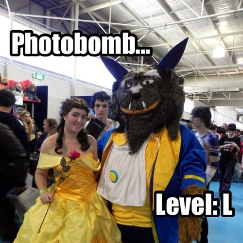 Beauty and the Beast photobomb cosplay death note - 7757211136