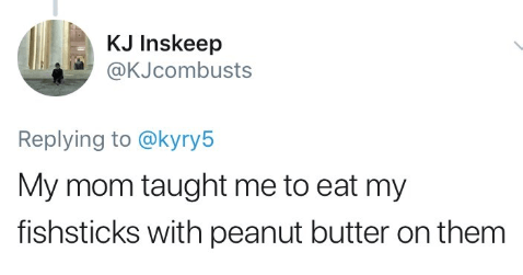 Funny tweets about weird food habits.