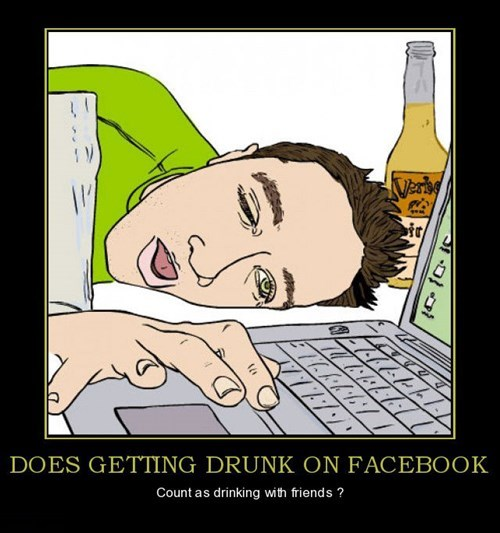 drinking facebooks drunk friends funny - 7757532160