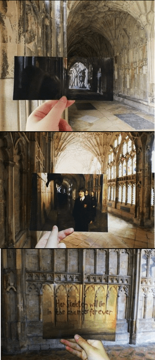 behind the scenes Harry Potter IRL movies Hogwarts - 7757545728