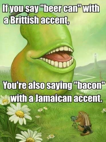 beer accents funny bacon - 7757841152