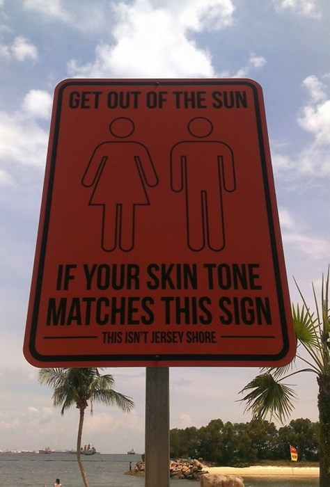 sign beach tanning funny g rated win - 7757862912
