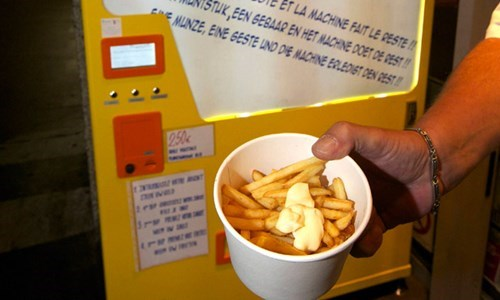 fries vending machine food funny - 7757942784