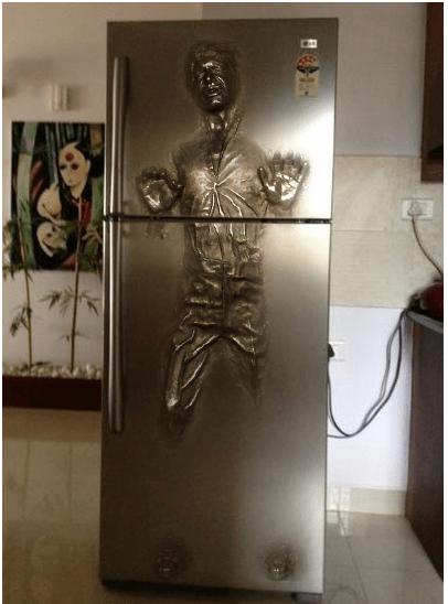 star wars nerdgasm Han Solo fridge funny g rated win - 7757991936