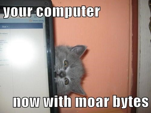 your computer  now with moar bytes