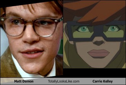 DC matt damon batfleck robin totally looks like carrie kelley