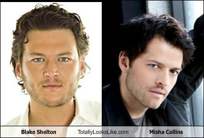 the voice,Supernatural,totally looks like,misha collins,blake shelton,castiel