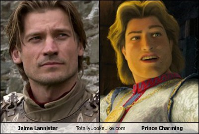 prince charming,nikolaj coster-waldau,Game of Thrones,totally looks like,shrek,jaime lannister