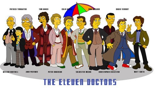 Fan Art doctor who cartoons the simpsons - 7760279296