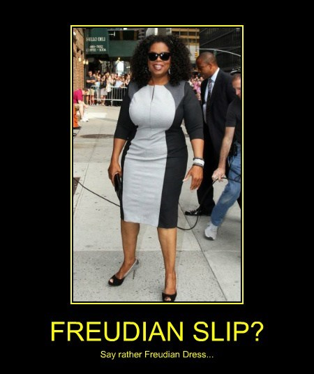 FREUDIAN SLIP? Say rather Freudian Dress...