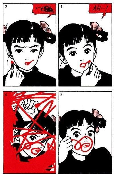 makeup,lipstick,manga