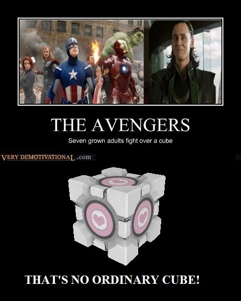 companion cube,funny,avengers