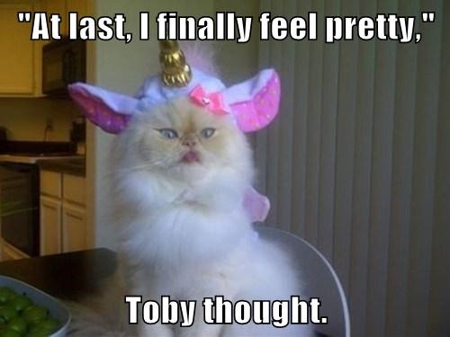 """At last, I finally feel pretty,""  Toby thought."