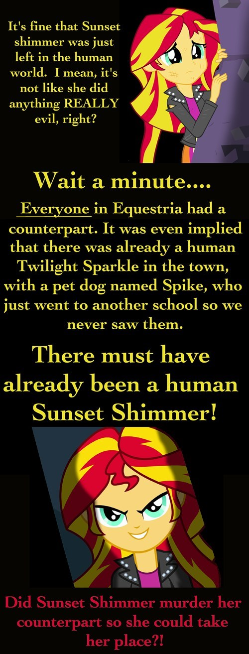 equestria girls theories sunset shimmer - 7761470464