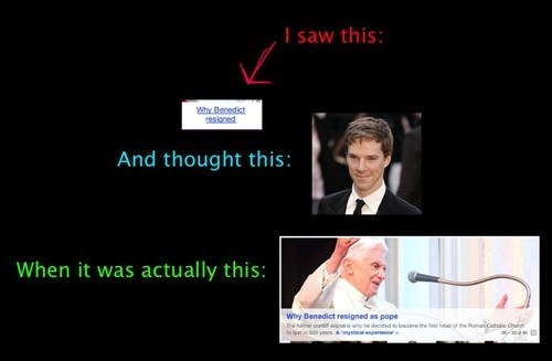 benedict cumberbatch,fandom problems,pope benedict