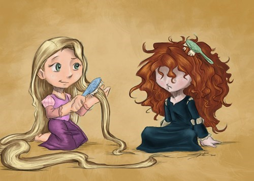crossover,brave,disney,tangled,Fan Art,pixar