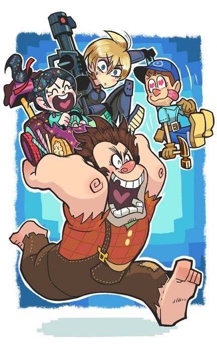 disney movies Fan Art pixar wreck it ralph cartoons - 7762258688