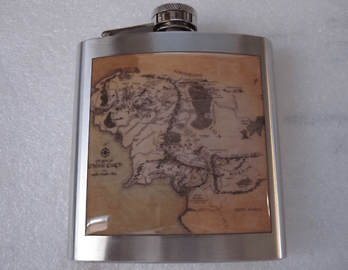 Lord of the Rings flask middle earth funny after 12 g rated