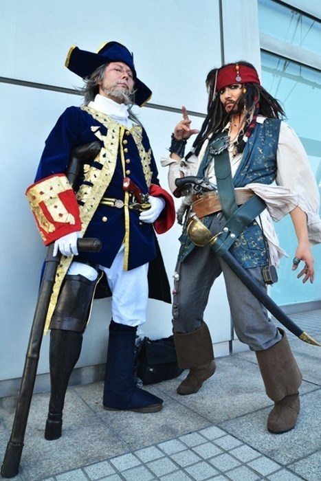 disney cosplay Pirates of the Caribbean captain jack sparrow - 7762340096