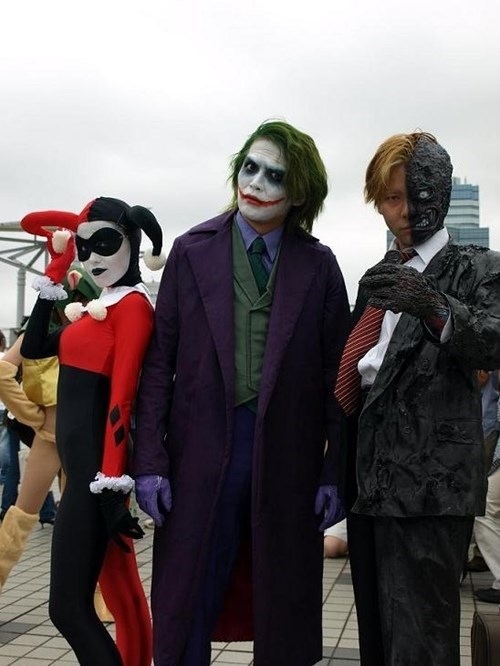 cosplay two face the joker batman Harley Quinn - 7762352640