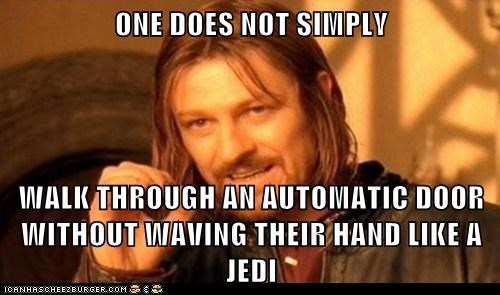 star wars one does not simply pretend boromir meme Jedi - 7762782720